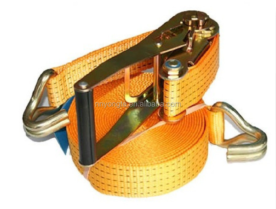 Heavy duty lashing retractable ratchet strap/ 1inch ratchet straps