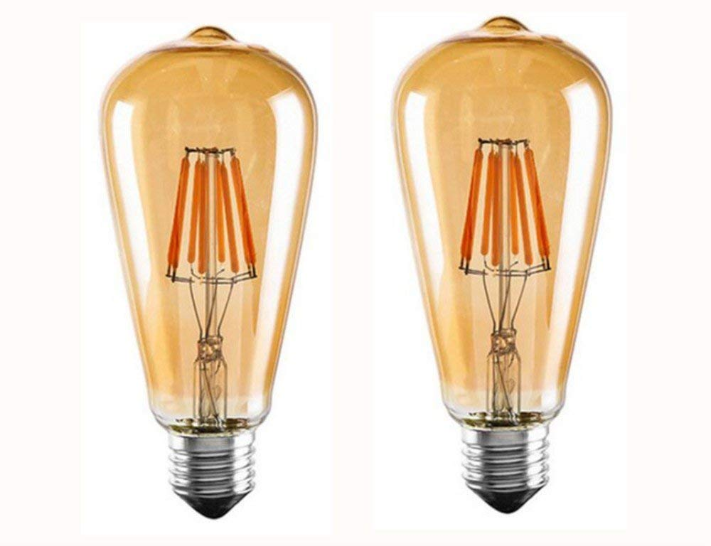 3 Pack Dr.Lamp ST19 4W Edison Lamp,Vintage LED Filament Bulb Replace Equivalent 50W Incandescent,2200K Warm White E26 Decorative Retro Lights,Golden Tinted Antique LED Lamp,Dimmable CUL Listed