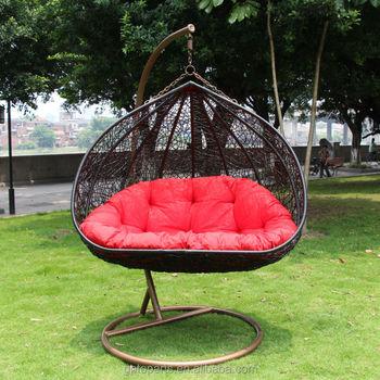 Outdoor Furniture Freestanding Chair Garden Hanging Swing Cushions