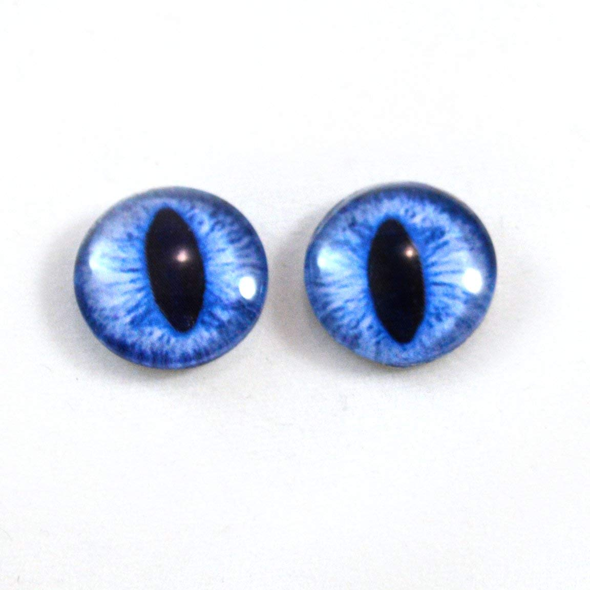 for Reborn BJD Doll Blue Iris/&Black Pupils Good  FlatBack Glass 22MM BJD Eyes