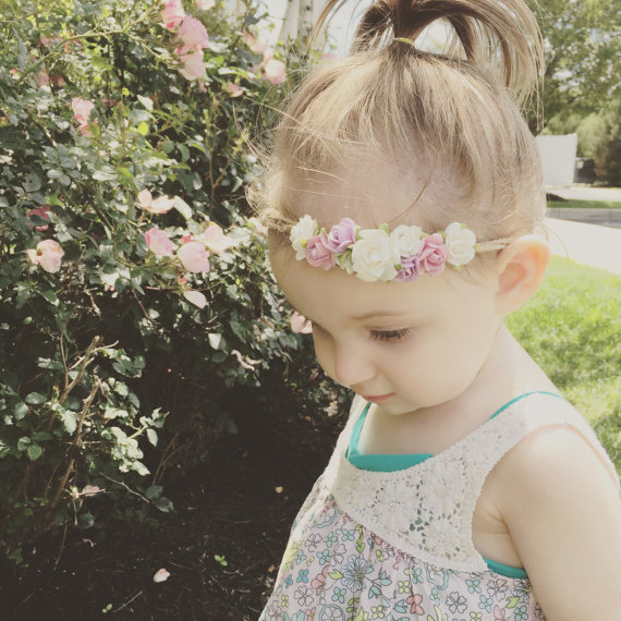 Baby Girls Kids Lovely Roses Floral <strong>Hair</strong> Bands Vintage Flowers <strong>Hair</strong> <strong>Accessories</strong> Pretty Headbands Infant Headbands