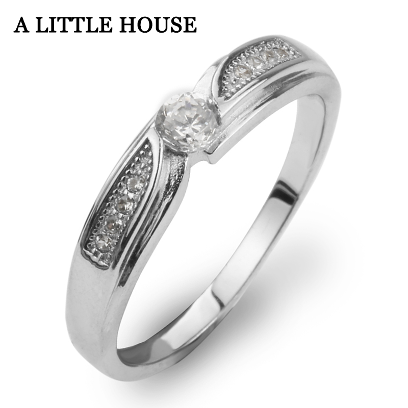 rings women wedding 925 <strong>silver</strong> gold plated stainless and ceramic steel RHC3006
