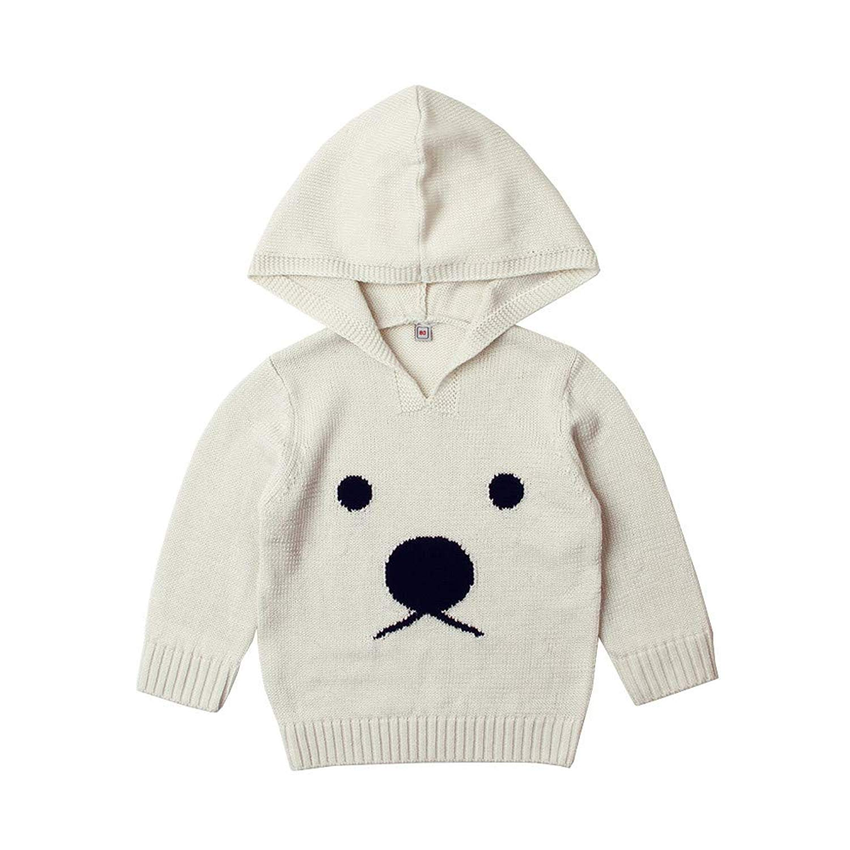Moonper Kids Children Toddler Infant Baby Boys Girls Winter Autumn Warm Hooded Long Sleeves Rabbit Baby Coat Sweater Jacket