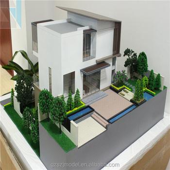 Duplex Villa Architectural Scale Models, Fantastic 3d House Model