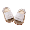 Rubber sole wholesale faux leather moccasins kids sandals china