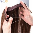 Brand Name Hair Weave 100% Human Remy Hair Famous Brand Supplier Halo Hair Extension