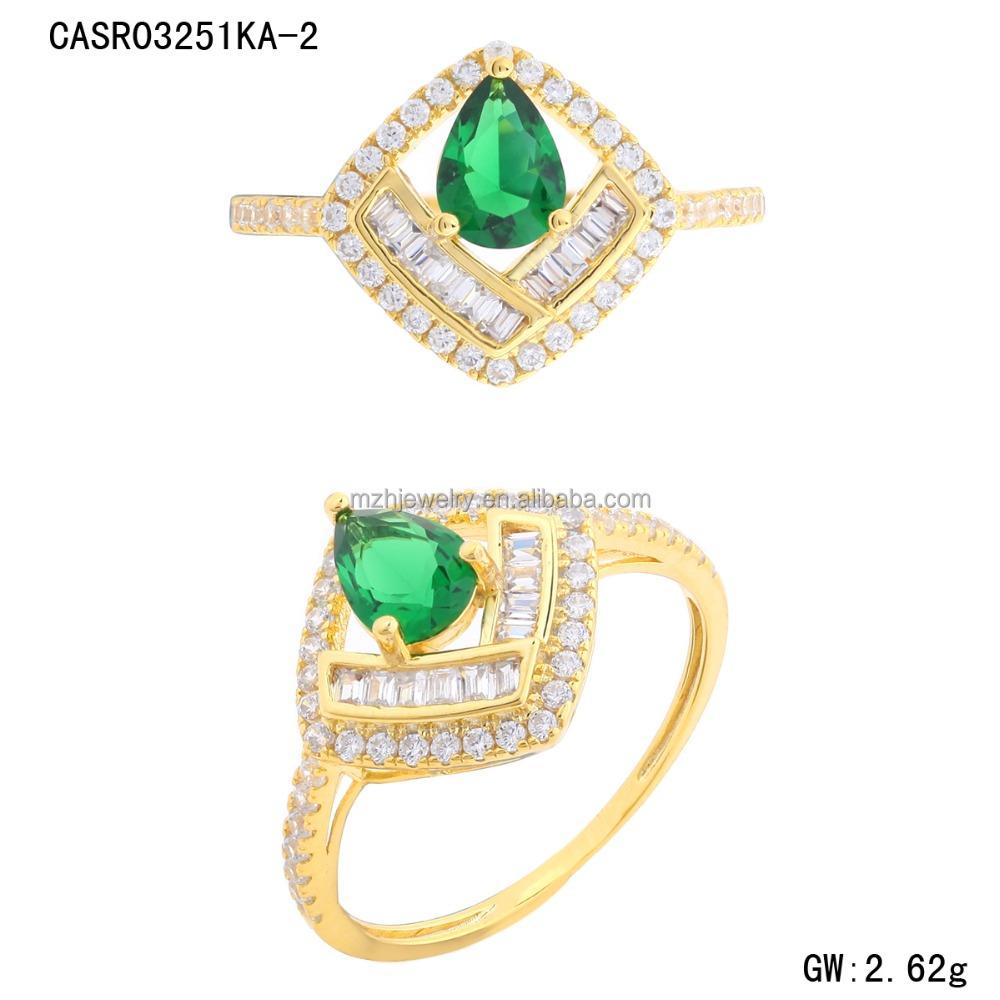 Hot Sale Dubai Gold Ring Designs,18k Yellow Gold Cz Ring Jewelry ...