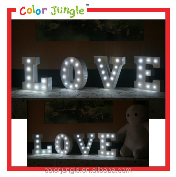 LED Sign Love Letter Marquee Light Letters Wooden Alphabet Sign