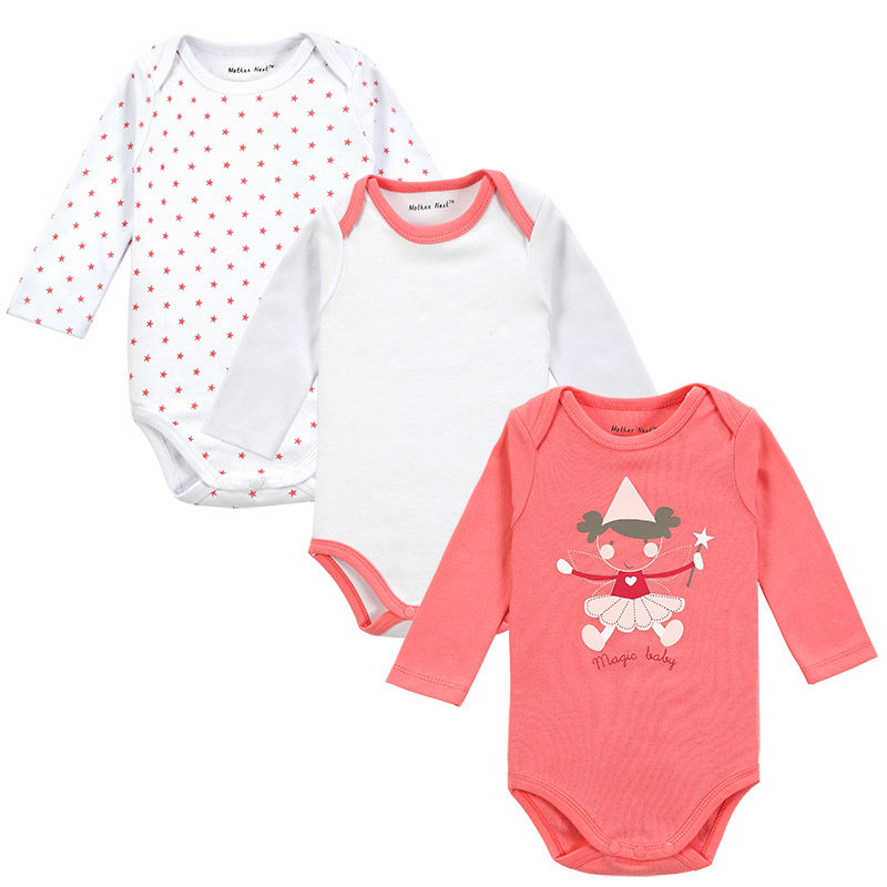 dc3628fa9 3 Pieces lot Newborn Baby Clothing Carters Baby Girl Boy Next Vestidos  Infantis Body Long Sleeve