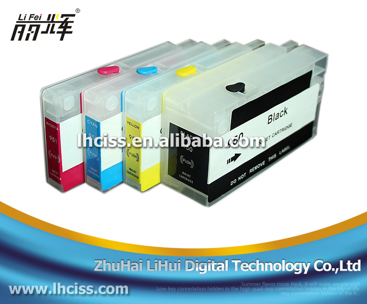 Use for hp Officejet 8100 8600 printer 950 951 Refill ink cartridge with reset chip