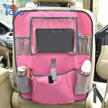 Wholesale iPad holder bottle holder oxford waterproof car organizer for kids back seat organizer
