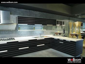 Custom contemporary kitchen kabinet buy modern kitchen for Kabinet kitchen set