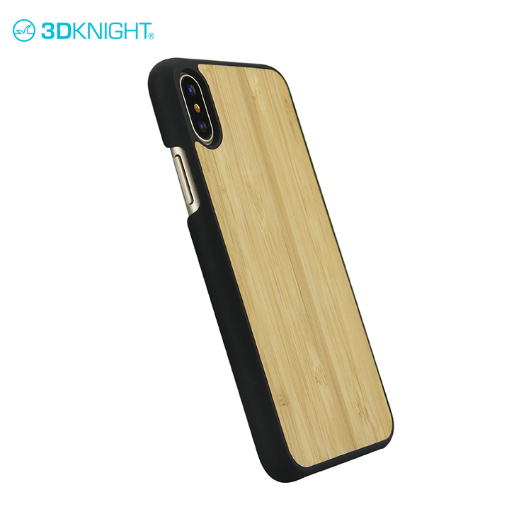 Natural bamboo wood latest mobile back cover for iphone X cases tpu color 2017 custom