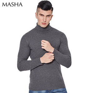 2018 new design computer knitted wool turtleneck sweater