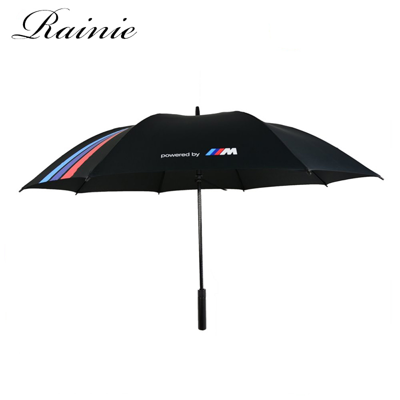Low MOQ low price client custom design fiberglass frame and shaft straight golf umbrella with case