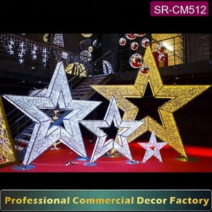 Customize giant 100cm 120cm 150cm 180cm 200cm golden Christmas star