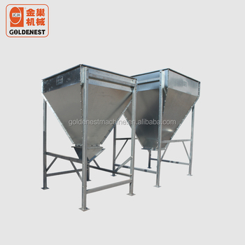 Hot Galvanized Poultry Pig Farming Feed Main Hopper Feed Bin - Buy Hot  Galvanized Hopper,Feed Bin,Poultry Farming Product on Alibaba com