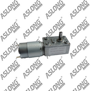 professional ASLONG electric micro dc motor JGY385 8-200 RPM high torque worm gearing dc motor worm gearbox
