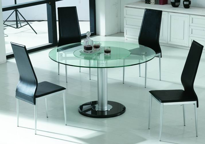 Round Center Movable Glass Dining Table With Black Marble Base   Buy Round  Center Movable Glass Dining Table,Glass Top And Black Marble Base Dining  Table ...