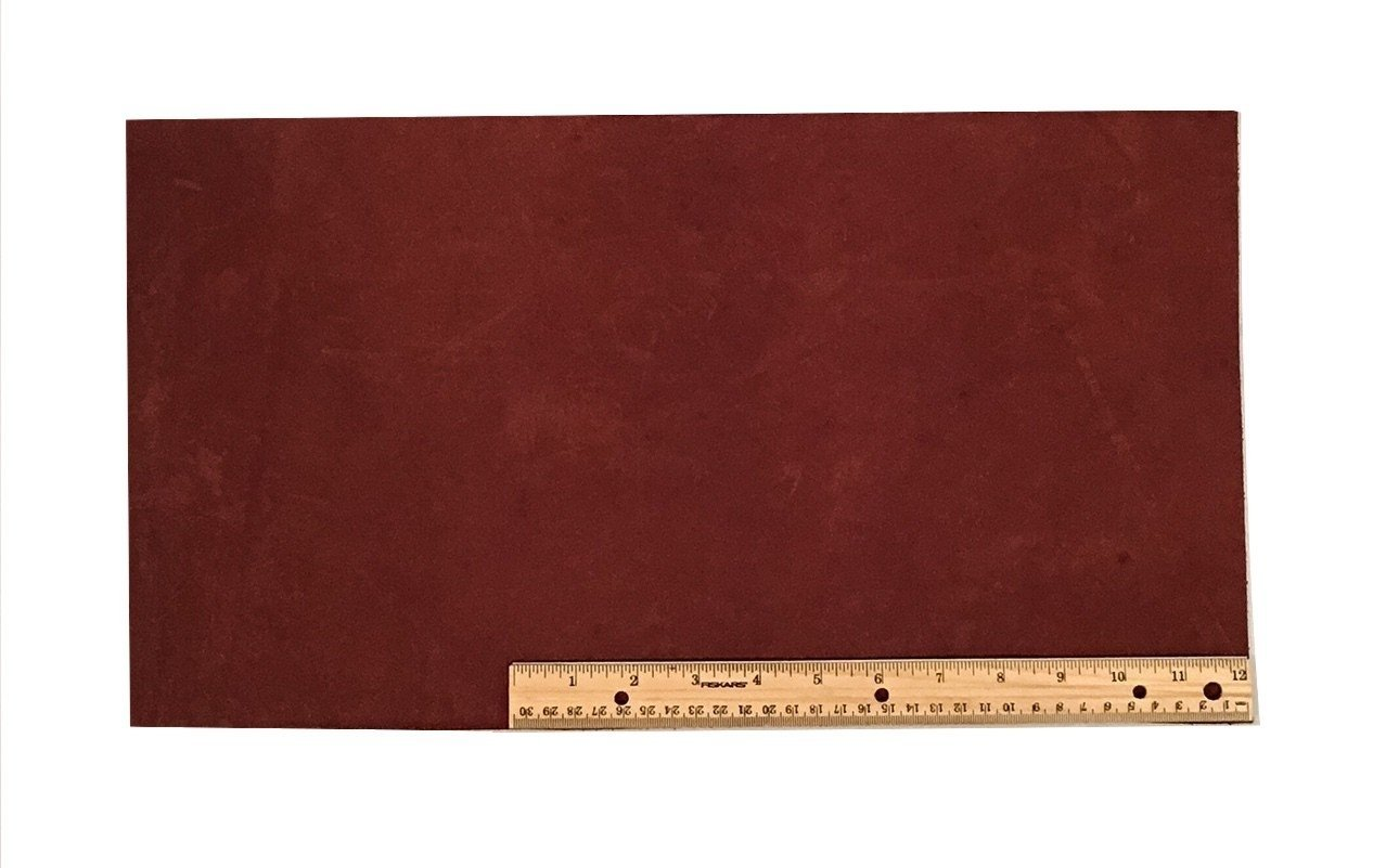 "Scrap Lace Leather Medium Brown Cowhide 10"" X 18"" Piece #L303"