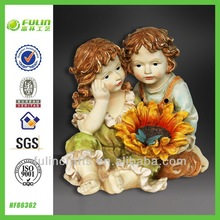 Resin Decoration Sitting Child Statue Baby Shower Favors Gift Item