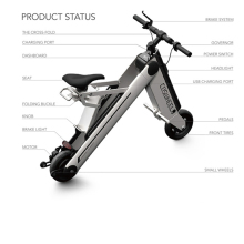 2017 hot selling folding e bike Coswheel electric bicycle with led display