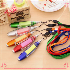 China market office stationery items names plastic ballpoint pen signature wholesale function ballpoint pen with tape