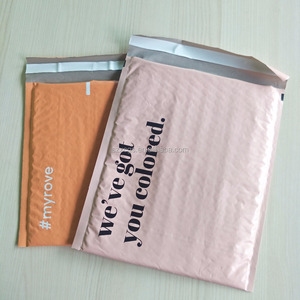 Finely processed poly bubble envelope with logo for packing