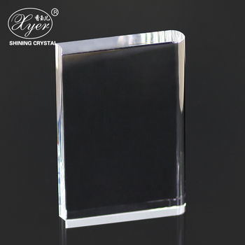 Wholesale optical k9 crystal blank crystal book trophy with custom logo religion