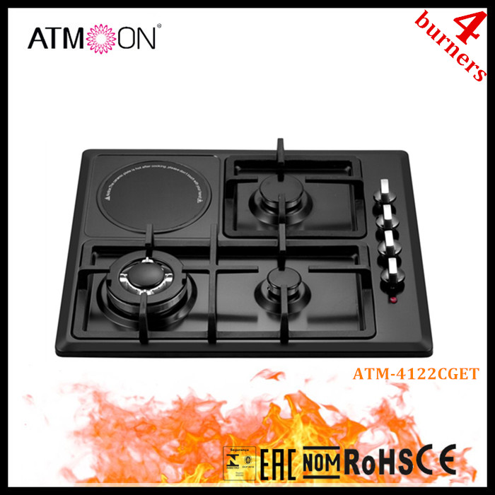 Hot sale black colored S.S 4 burner gas cooking range in pakistan