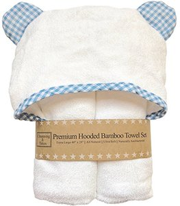 Amazon Hot Selling 100% Bamboo Baby Hooded Towel Set With Wash Cloth