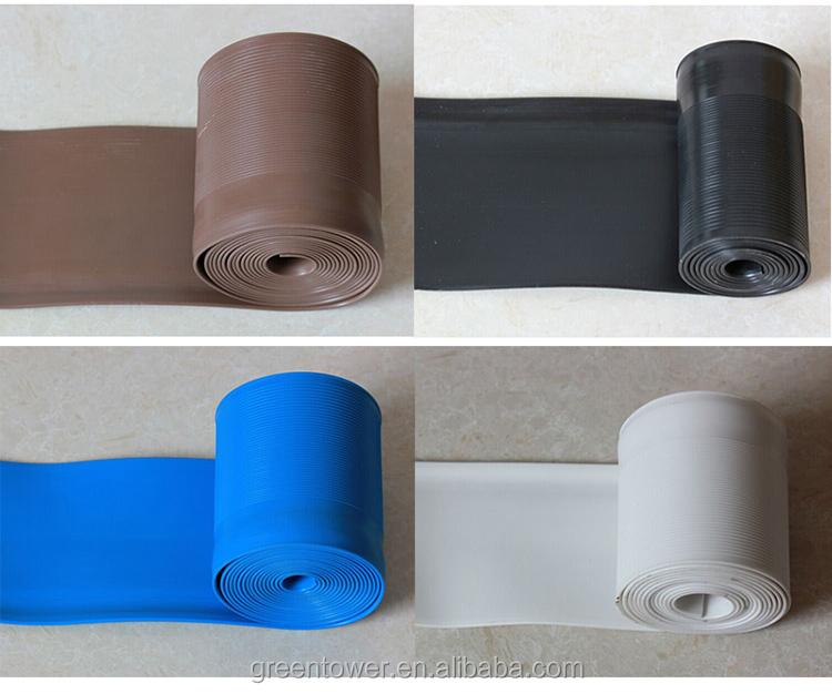 F cil de instalar pared placa base de pl stico pvc blando for Rodapie pvc blanco