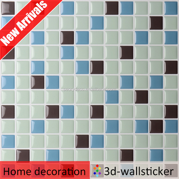 Waterproof Vinyl Material Adhesive Decorative Wall Tile Backsplash Impressive Adhesive Decorative Wall Tile