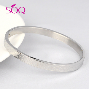 New fashion 2017 Stamped letter Stainless Steel Bangle Cuff Inspirational 316L Stainless Steel Bangle