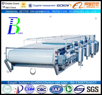 vacuum belt filter wastewater treatment facility