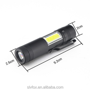 Mini Flashlight 2000 Lumen Q5 LED+COB LED Penlight