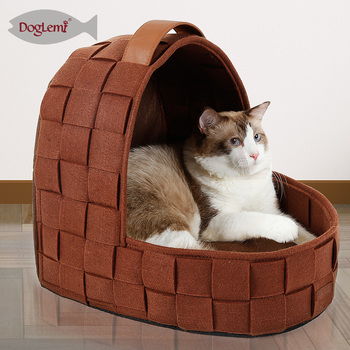 Nature Felt Pet Dog House Bedding Cat Cave Mats