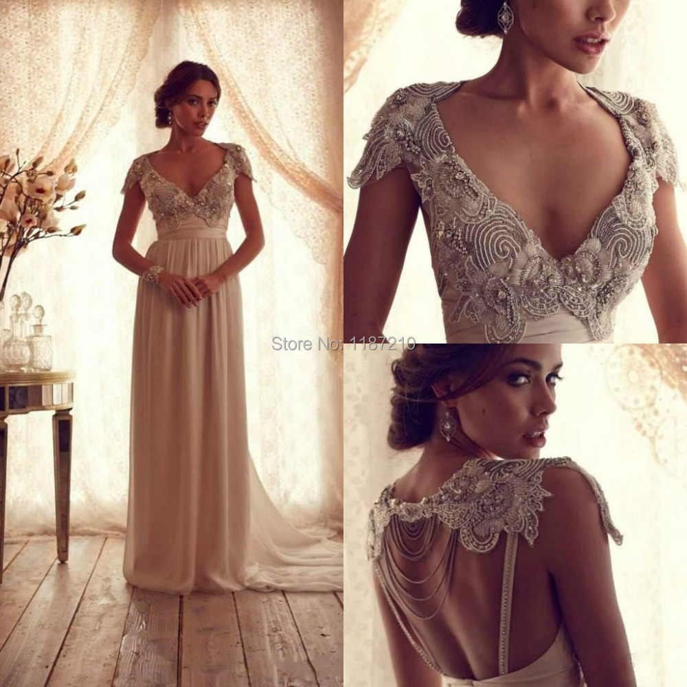 Anna Campbell Wedding Gown: Anna Campbell 2015 Luxury Hollow Wedding Dresses Backless