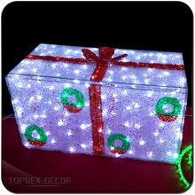 Valentine day gifts decorations outdoor lighted gift boxes led christmas