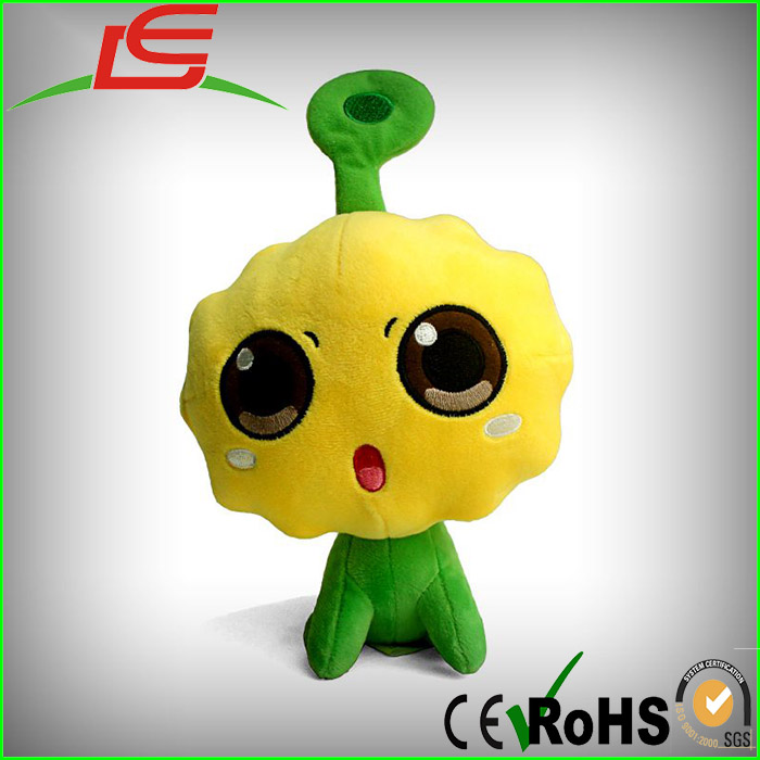 CJ7 stuffed cute dog alien green body big head plush toy