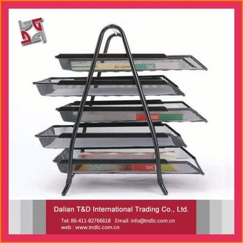 office decorative accessories. Contemporary Decorative Office Decoration Accessories Paper Organizer Decorative Metal Mesh 5 Tiers  A4 File Holder Desk Tray To R