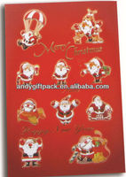 personalized colorful bell Christmas greeting cards wholesale