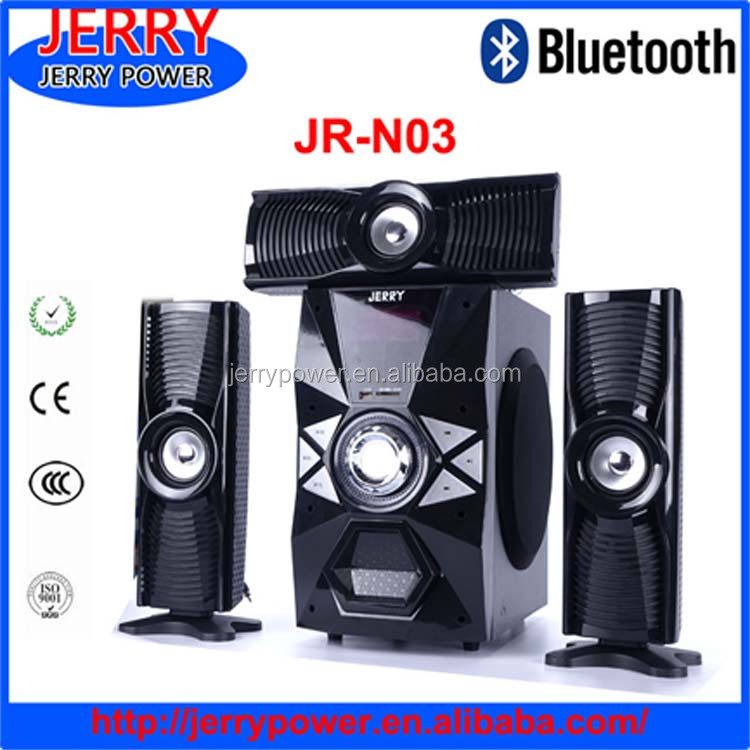 JERRY Digital FM Radio Wooden Home Theater With active speaker amplifier module