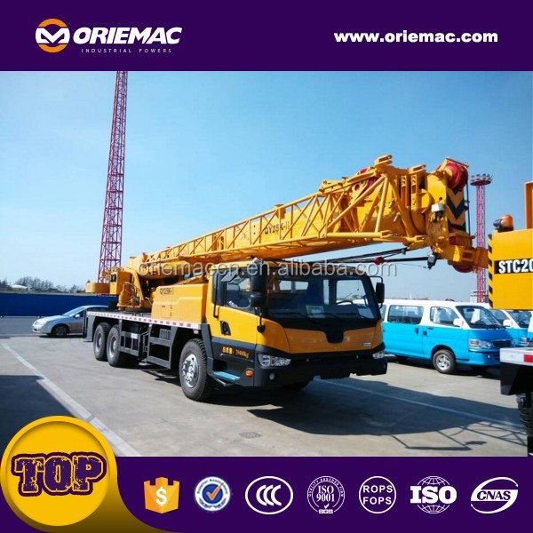 Five section booms extended boom+jib 42 meters 25 ton truck crane QY25K-II
