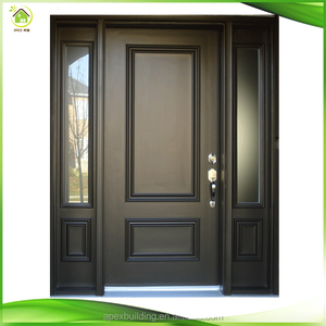 Exterior wooden front door designs fancy wood panel doors
