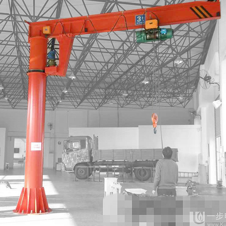 equipped with hoist 3 ton mobile jib crane slewing jib crane forklift jib crane made in china factory