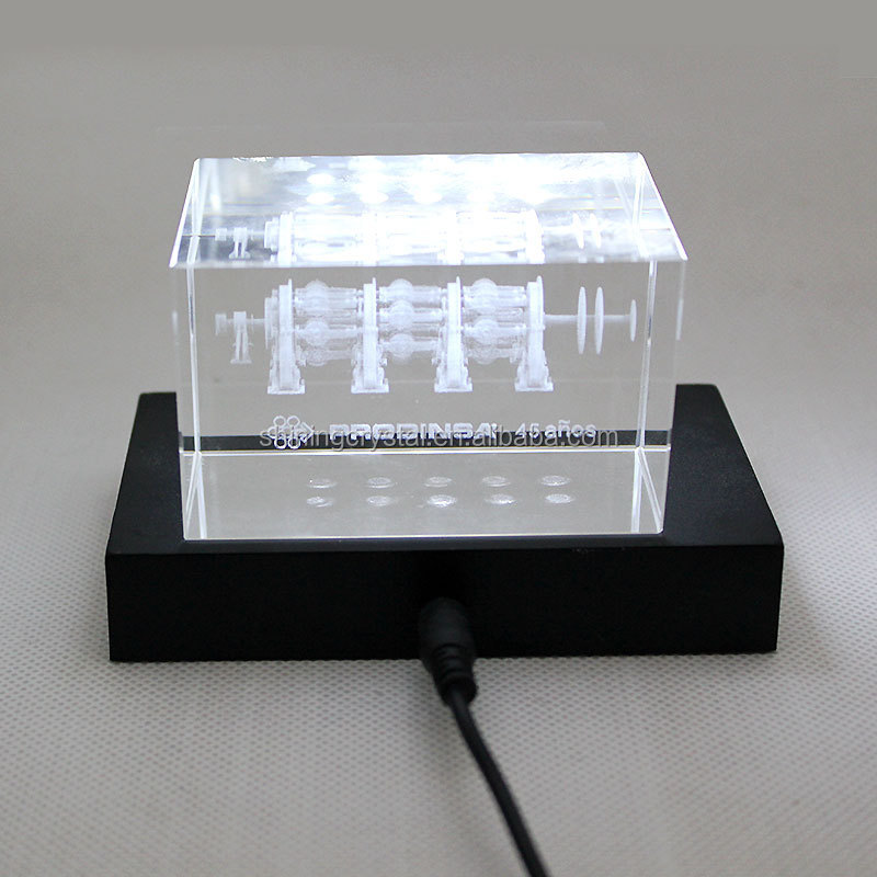 The rectangle shape LED base for 3D laser crystal
