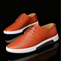 lx10051a new fashion man shoe summer breathable shoes men leather dress shoes
