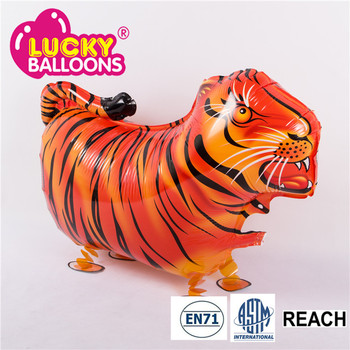 Alibaba Express Usa Plastic Animal Walking Balloons Tiger Toys Baby