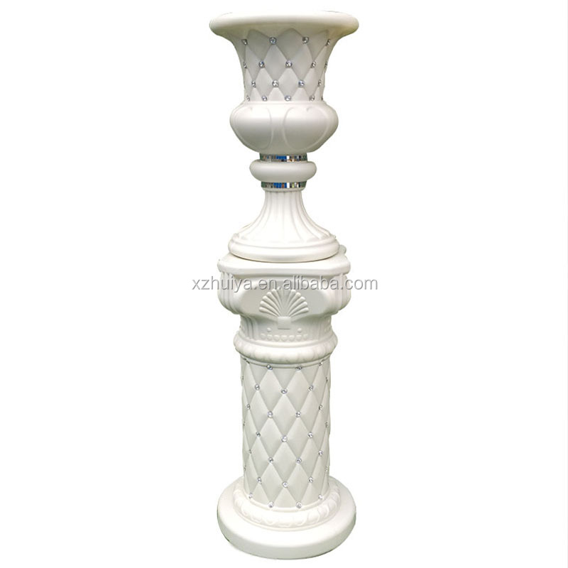 2018 plastic romantic column crystal pillar plastic walkway stand wedding <strong>decoration</strong> & event party centerpiece